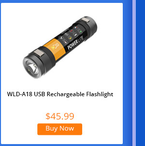 WLD A18 USB Rechargeable Waterproof Outdoor Flashlight