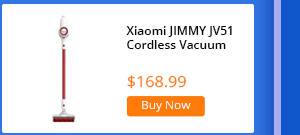 Xiaomi Lexy JIMMY JV51 Lightweight Cordless Stick Vacuum Cleaner Red