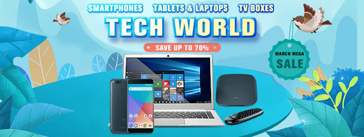 Geekbuying Smartphones Tablets&Laptops TV boxes TECH WORLD