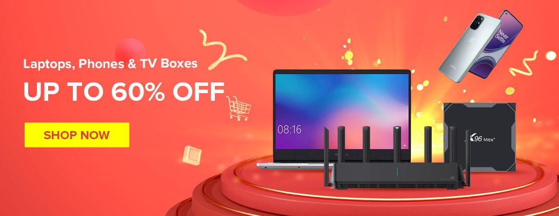 Laptops e caixas de TV Black Friday